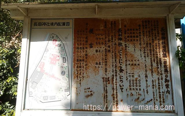長田神社の境内の案内図