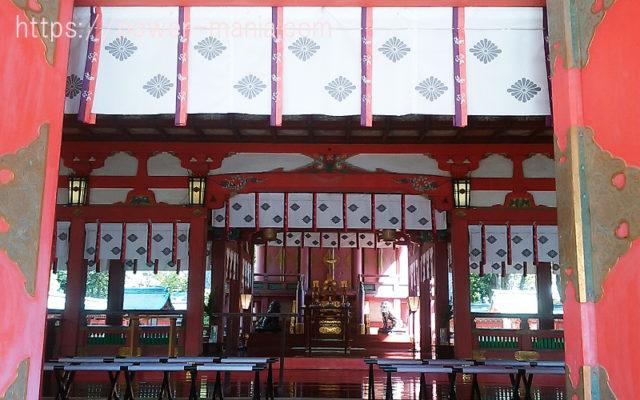 長田神社の拝殿
