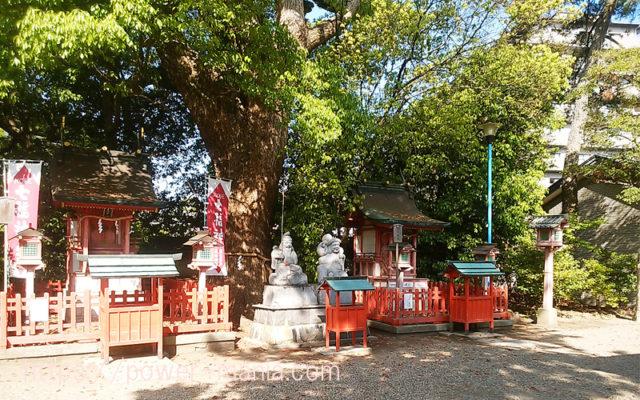 長田神社の拝殿横