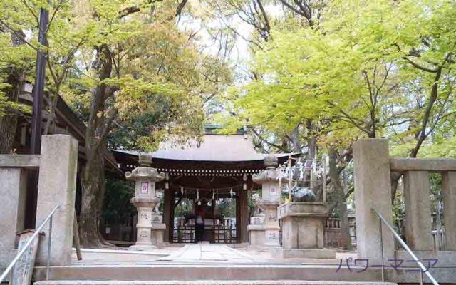 湊川神社にある菊水天満神社の撫で牛