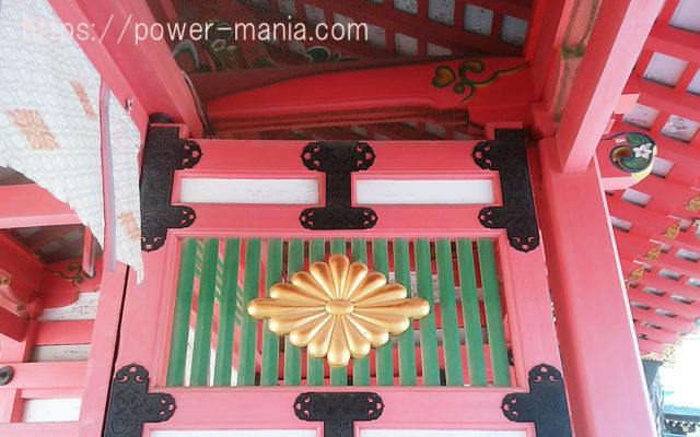 長田神社の神門の社紋