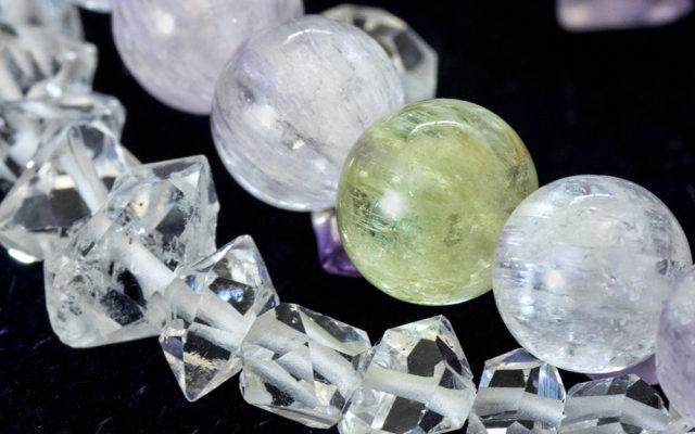 水晶とシトリンのパワーストーンブレスレット
