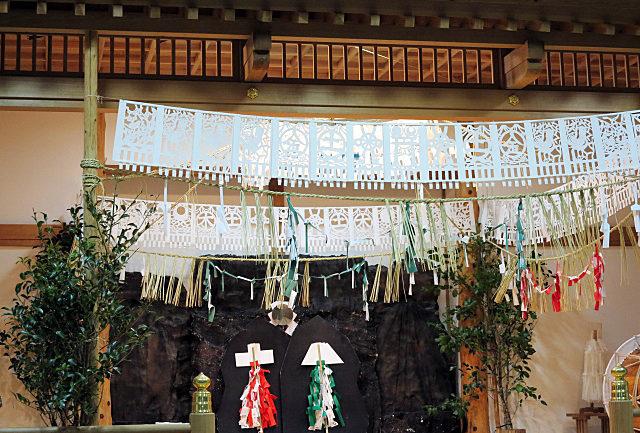 高千穂神社の夜神楽の会場