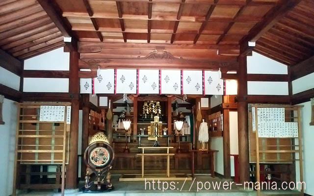 一宮神社の拝殿の中