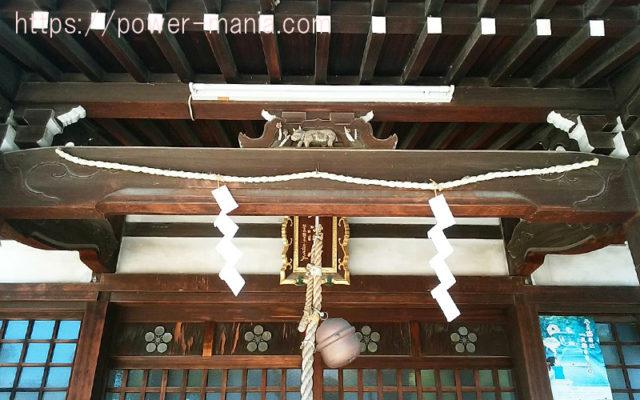 柳原天神社の拝殿上の扁額