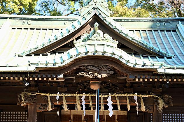 代々木八幡宮の拝殿の屋根