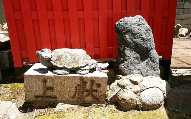 柳原天神社の亀の石碑