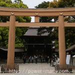明治神宮の拝殿前・木の鳥居