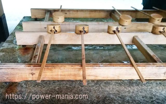 明治神宮の手水舎の柄杓