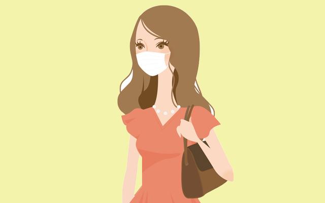 芸能人のイメージ・マスクをしている女性のイラスト