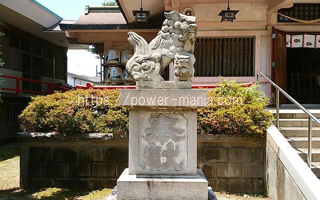 船寺神社の左の狛犬