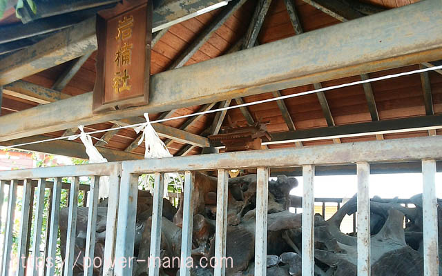 船寺神社の岩楠社