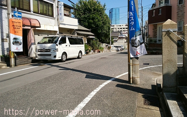 神戸駅へのアクセス・八宮神社を右へ出たところ