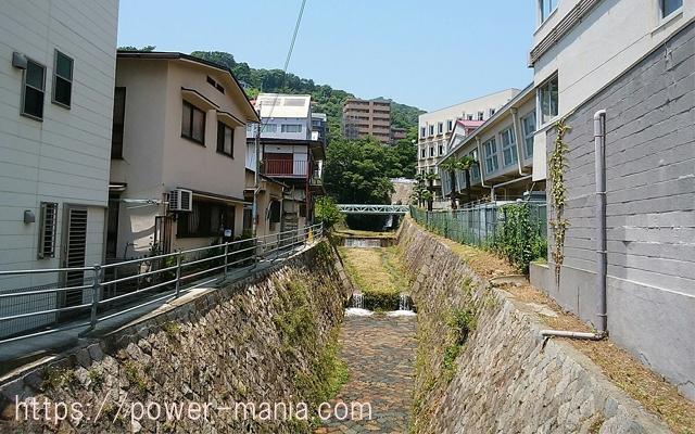 五宮神社へのアクセス・小さい川