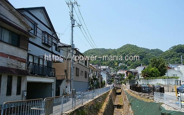 五宮神社へのアクセス・川沿いの道