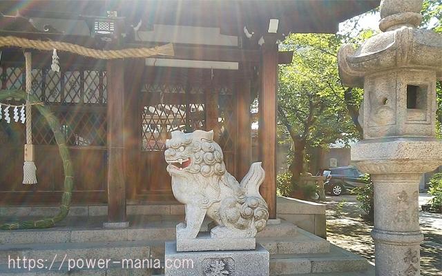 八宮神社の右の狛犬