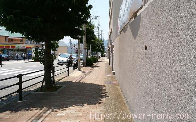 五宮神社へのアクセス・山手短期大学の前の道