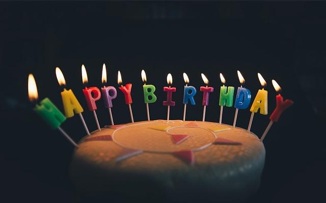 生年月日のイメージ・誕生日ケーキのローソク