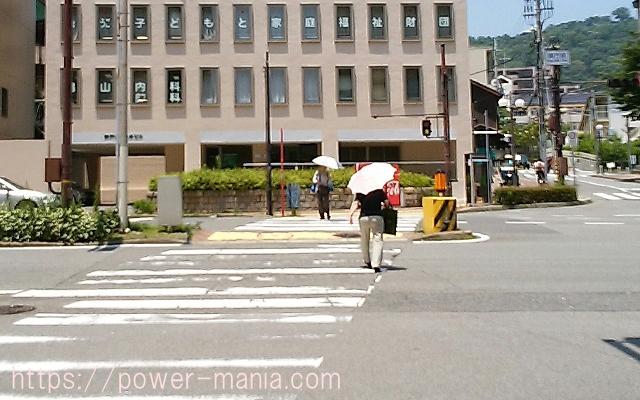 四宮神社へのアクセス・兵庫県庁近くの信号