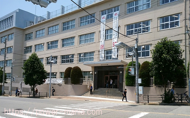 五宮神社へのアクセス・信号の前の山手短期大学