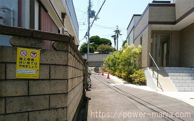 五宮神社へのアクセス・入り組んだ道を進んでいく