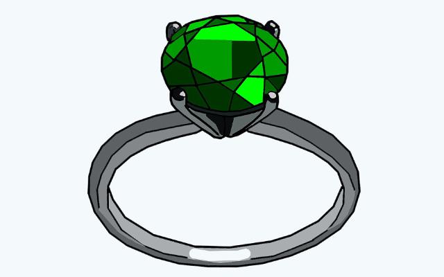 ペリドットの指輪のイラスト