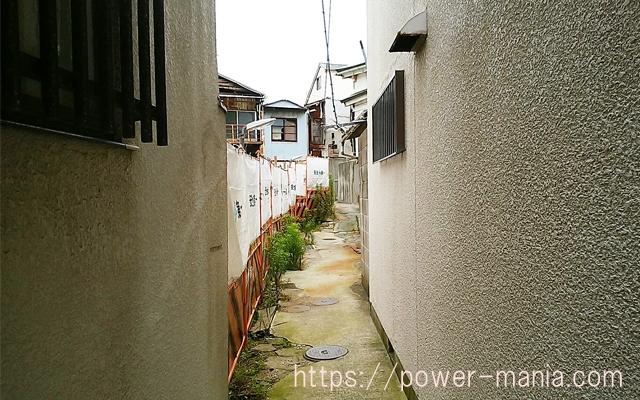 松尾稲荷へのアクセス・どこかわからない道