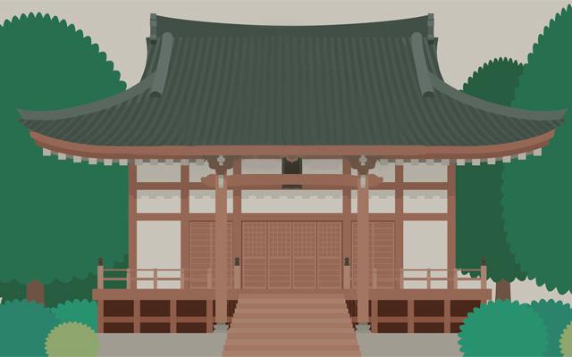 粟鹿神社の本殿のイメージイラスト