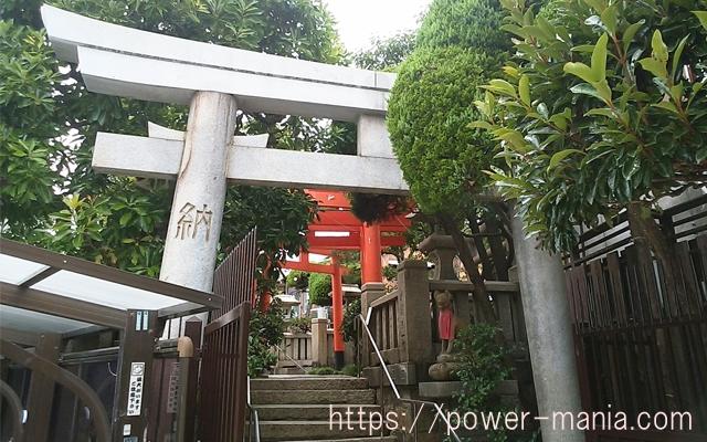 松尾稲荷神社のもう一つの石の鳥居