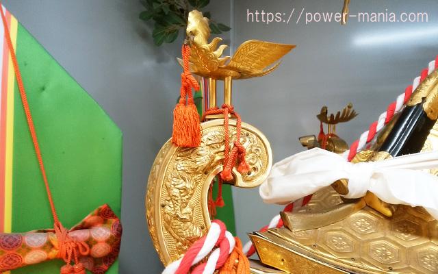 小野八幡神社の御神輿の上部分