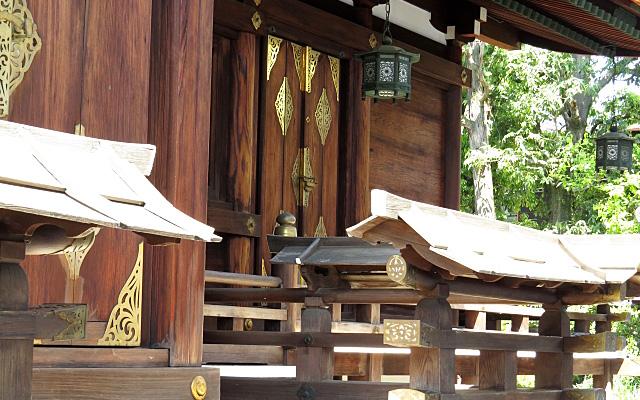 大将軍八神社の縁側