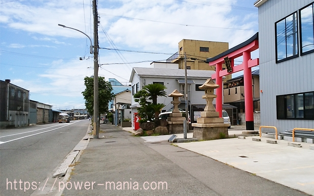 駒林神社への道・大鳥居が見えた