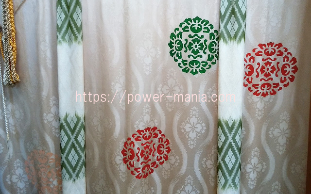 小野八幡神社の美しい布