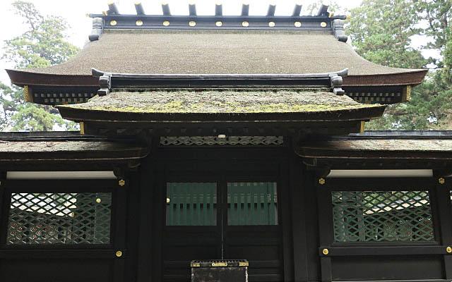 香取神宮の奥宮拝殿