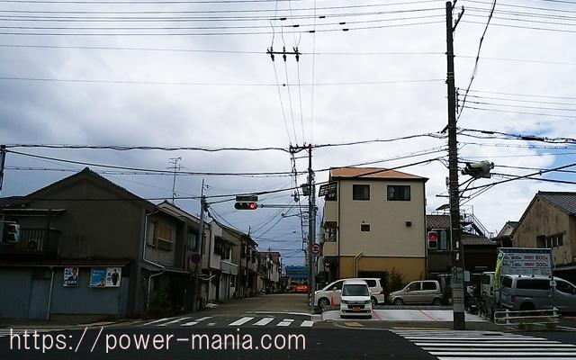 駒林神社への道・信号