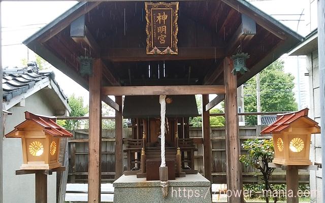 駒林神社の境内にある神明社