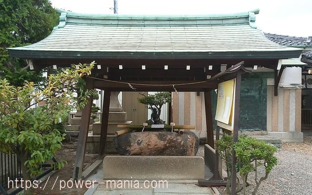 駒林神社の手水舎