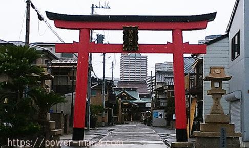 駒林神社の鳥居正面