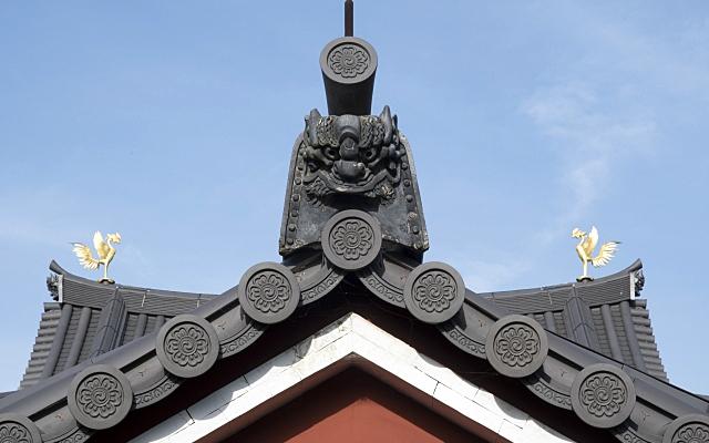 平等院鳳凰堂の屋根