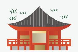 水澤観世音の本堂イメージイラスト