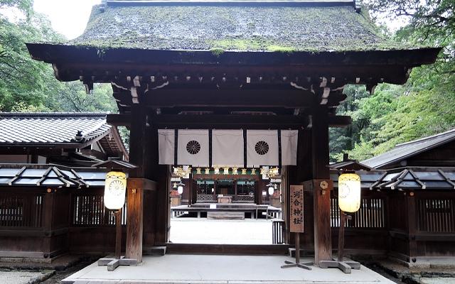 河合神社の門