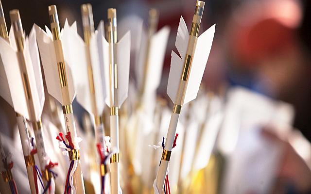 初詣で授与される神社の破魔矢