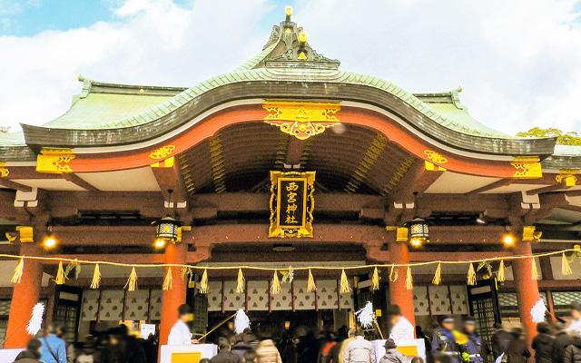 西宮神社の拝殿
