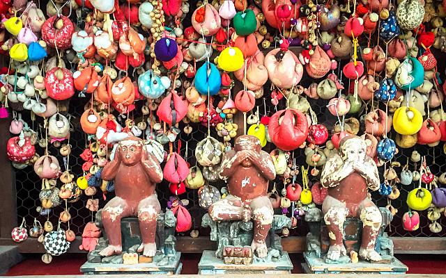 八坂庚申堂の三猿