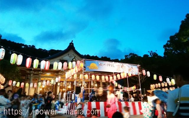 湊川神社の御前踊り