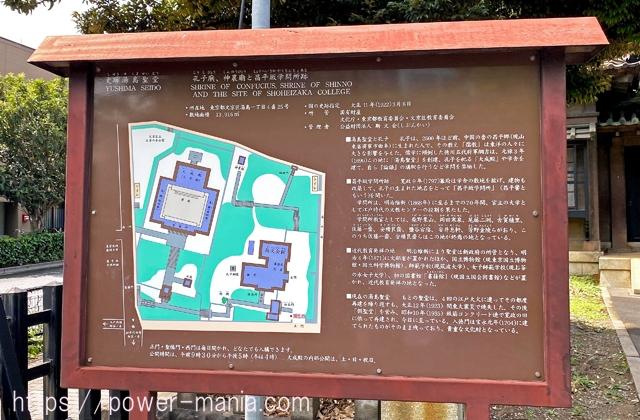 湯島聖堂入り口の案内板