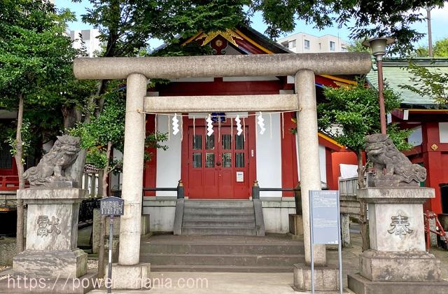 小舟町八雲神社の鳥居