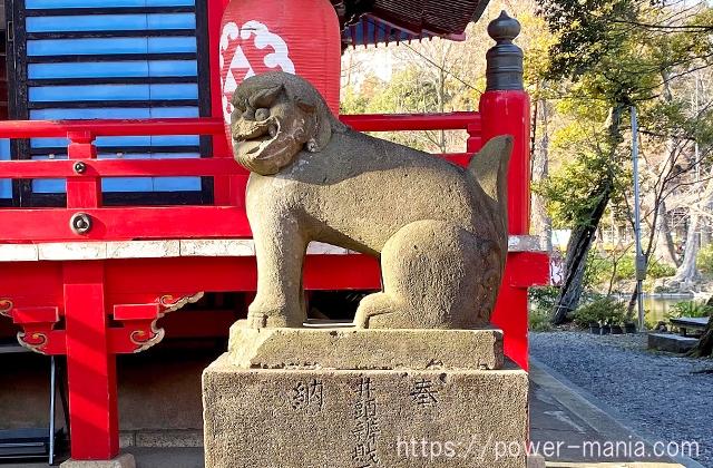 井の頭弁財天の右の狛犬